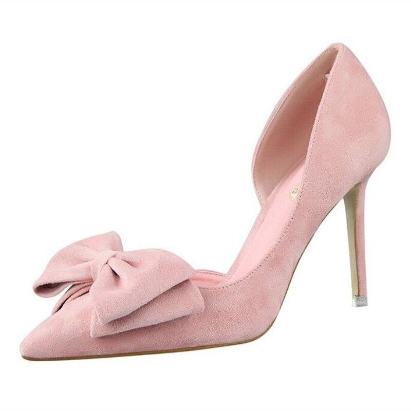 {D&Henlu} Brand Women Shoes Fashion Double Bowtie Pumps Cros