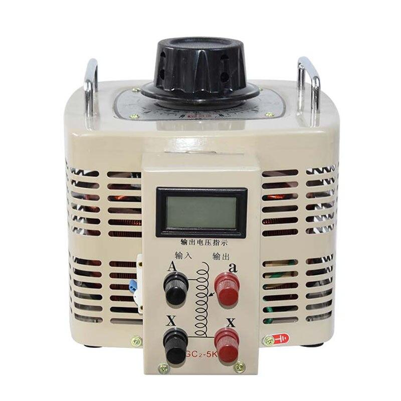 Single-Fase Regulador de Tensão Digital 0 Input Output 220 V-250 V Transformador 5000 W Tensão Variável Digitais regulador TDGC2-5kva