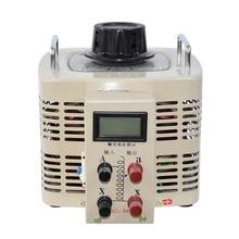 цена на Single-Phase Digital Voltage Regulator Input 220V Output 0-250V Digital Variable Transformer 5000W Voltage Regulator TDGC2-5kva