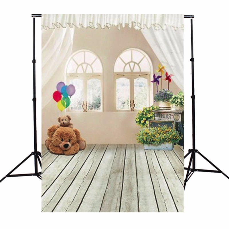 5X7FT Baby Photography background Window Wood Floor Photographic Backdrop For Studio Photo Prop 1.5 x 2.1m Cloth