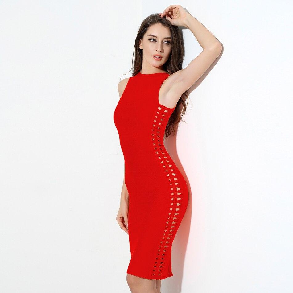 Red Sleeveless Christmas Dress
