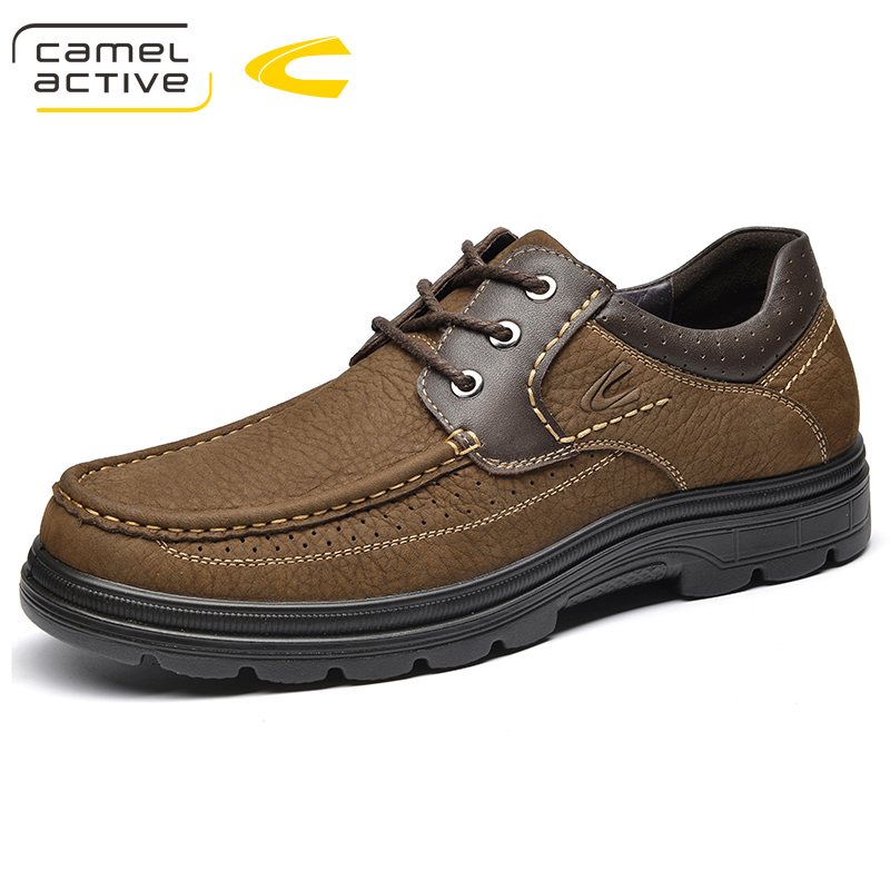 Camel Active New Big Size 44 Fashion Shoes Men Comfortable Outdoor Casual Shoes Lace-Up Spring/ Autumn Genuine Leather Sneakers camel active new men genuine leather casual shoes business men shoes luxury brand spring male footwear sneakers big size shoes