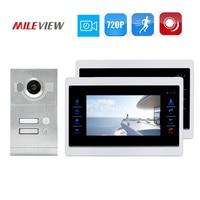 Free Shipping 2 Apartment 720P 1 0MP HD 7 Screen Video Intercom Door Phone Motion Detection