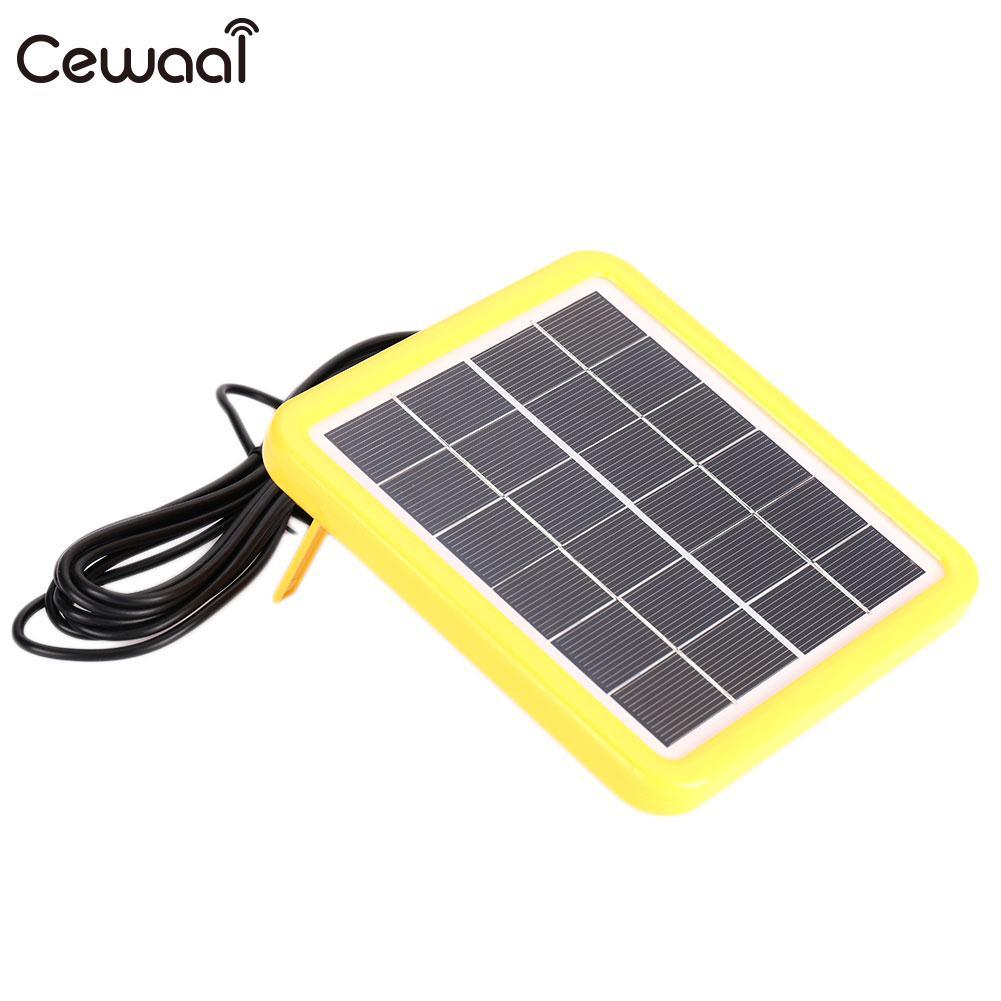 Солнечная Changer 6V2W открытый Портативный Солнечный Батарея Водонепроницаемый EVA Панели солнечные модуль с 3,0 м линии Солнечный свет