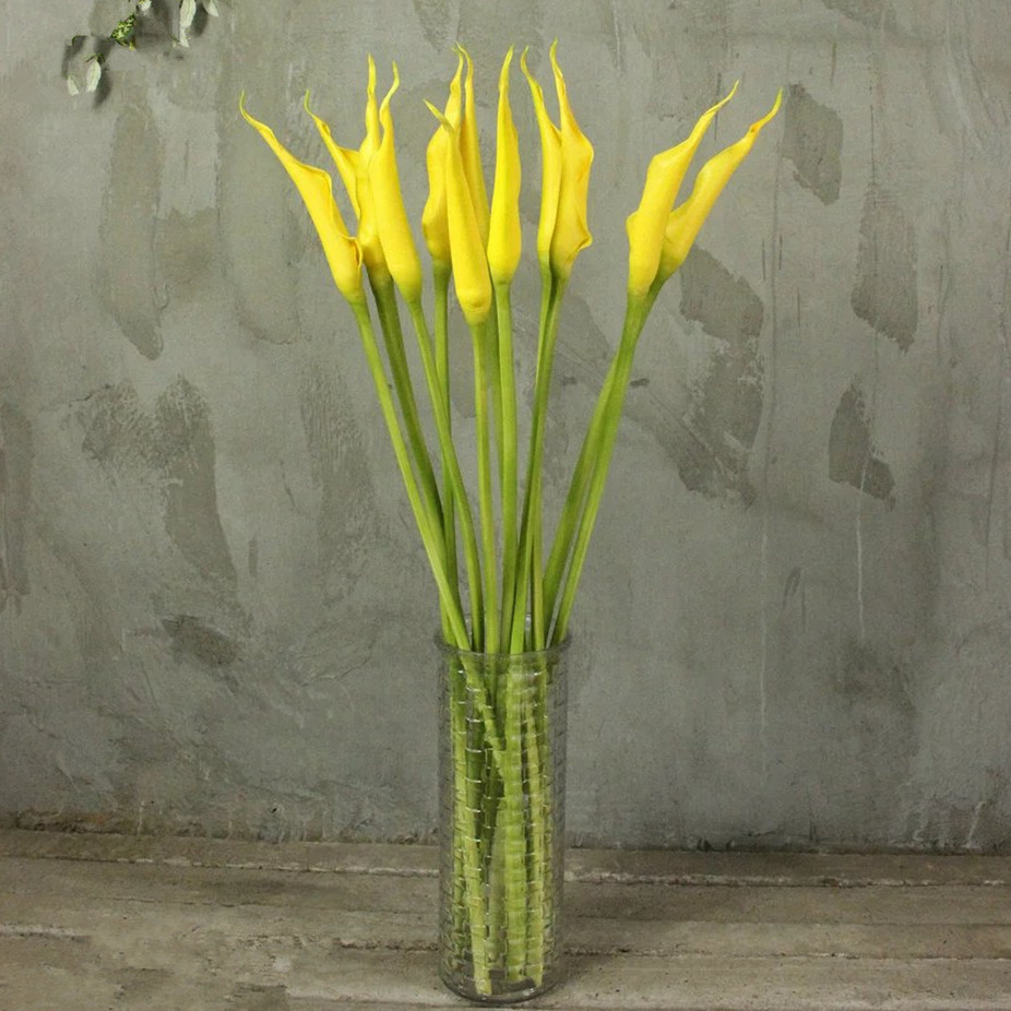 10pcs Calla Bud Pu Calla Lily Real Touch Flower Artificial Flower