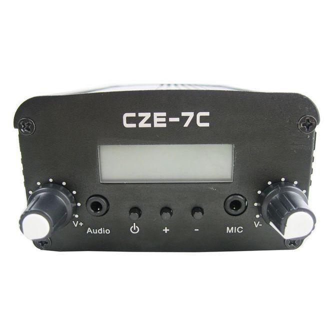 CZH CZE-7C 5W 7W FM stereo PLL broadcast transmitter hot sale 76-108MHZ new 1w 7w st 7c 76 108mhz stereo pll fm transmitter broadcast radio station