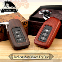 Sandalwood Car Key Cover For Lexus RX IS ES GS GX LX NX RC 200 250 350 LS 450 H 300 H Auto Accessories Car Key Case Car Styling