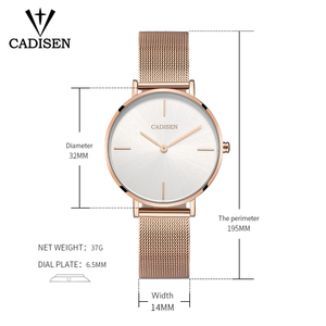 Image 2 - CADISEN Women Watch Set Top Brand Luxury Rose Gold Women Bracelet Watch For Ladies Wrist Watch Montre Femme Relogio Feminino