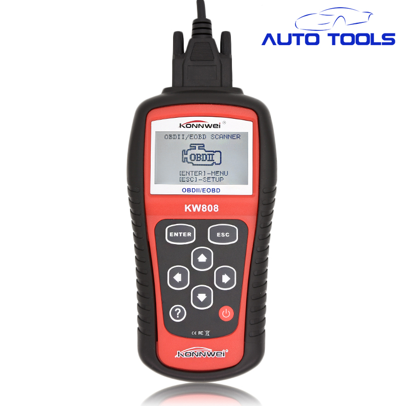 ФОТО Hot Sale OBD2 auto car Scanner Tool KW808 Car Diagnostic tool interface Code Reader CAN Engine Reset Tool