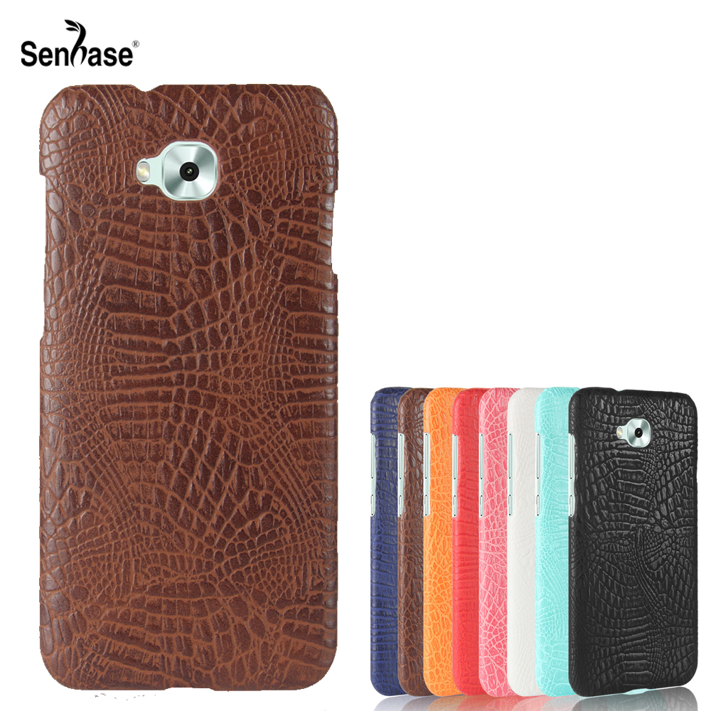 For Asus Zenfone 4 Selfie ZD553KL Case Crocodile Pattern PU Leather Hard PC Back Cover For Asus Zenfone 4 Selfie ZB553KL Case