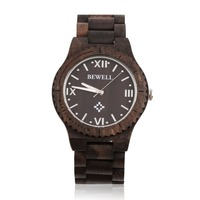 BEWELL2017 New W065A High Quality Wooden Watches Wood Wristband Men's Quartz Wrist Watch Hot!