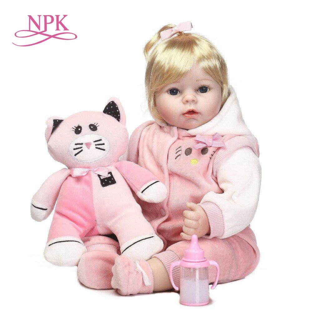NPK Adora 46 см ручной работы реборн силиконовая куклы для девочек Реалистичного Reborn BeBe для маленьких девочек bonecas де силикона