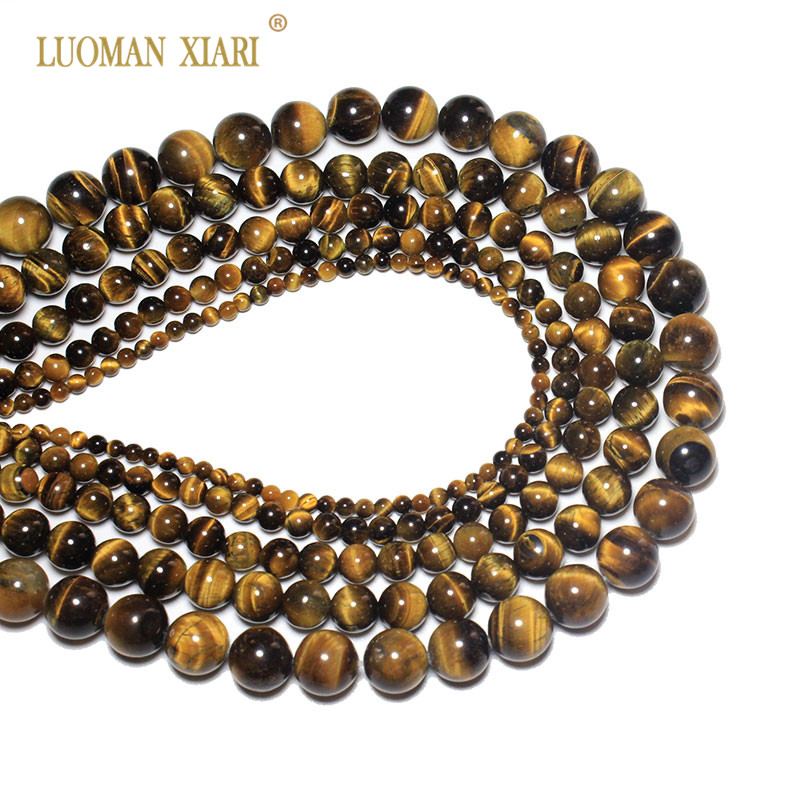 Beads & Jewelry Making Quality Natural Tiger Eye Stone Beads For Jewelry Making Diy Bracelet Necklace 4/6/8/10/12 Mm Strand 15 Jewelry & Accessories Honesty Wholesale Round Aaa