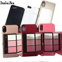 DuaGaiRen Luxury Mirror Case For iPhone 6 6s 7 Plus Makeup Phone Cases For Apple iPhone 8 X 7 Plus Woman Coque