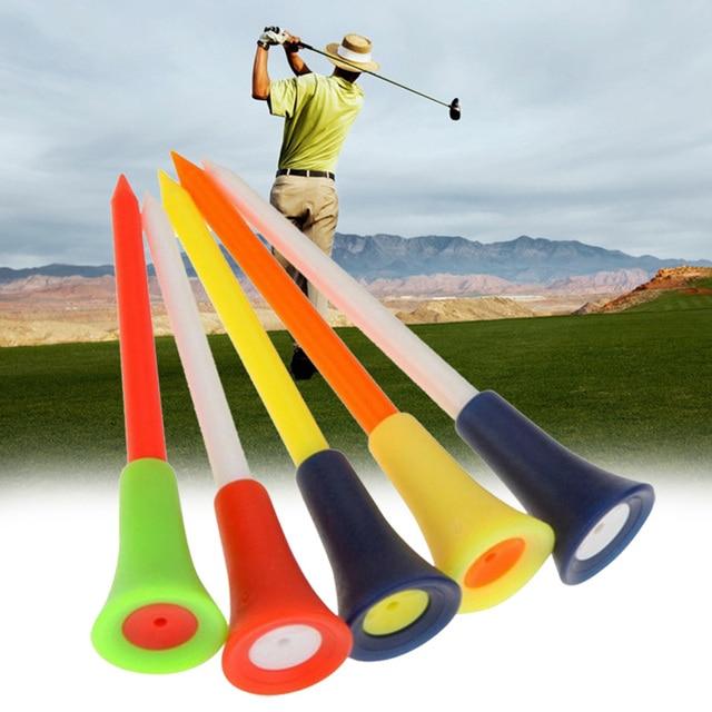 1 pcs גולף טי רב צבע פלסטיק גולף Tees 83mm עמיד גומי כרית למעלה גולף טי
