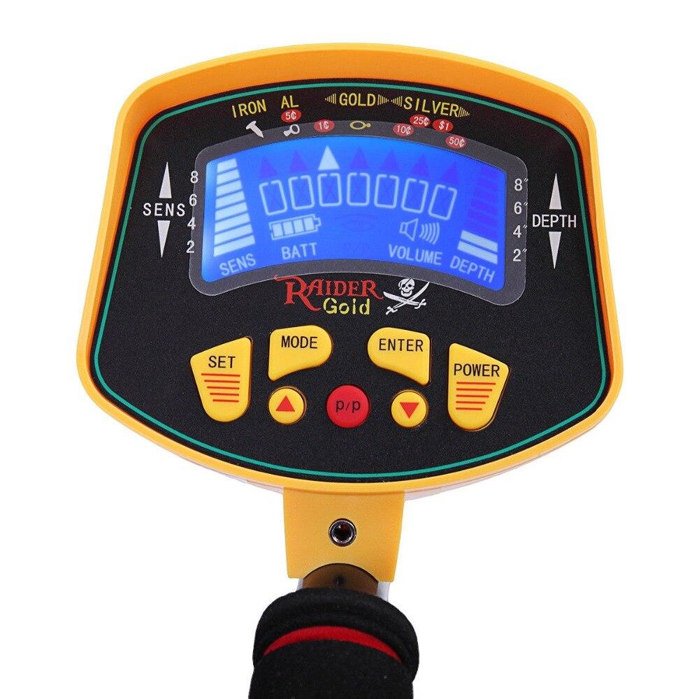 Profissional handheld display lcd detector de metais