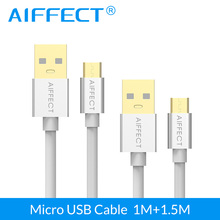AIFFECT High Speed Micro USB 2.0 Cable Micro-USB Cable Micro B to USB Sync Data Charging Cable Cord Black X 2 Pieces 3.3Ft 5FT стоимость