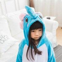 Fotografia Kid Chłopcy Dziewczyny Ubrania i Zabawy Kapturem Piżamy Pijamas Piżamy Flanelowe Piżamy Dla Dzieci Cartoon Zwierząt Słoń Cosplay