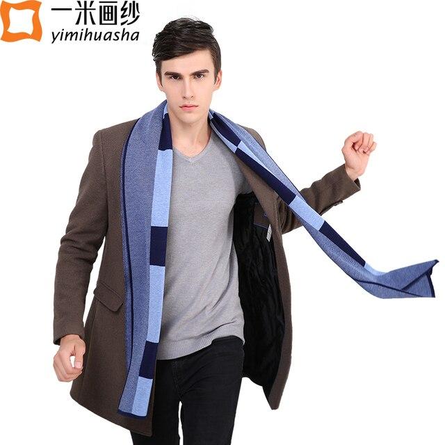 2016 зима теплая нежный мужчины шарфы модные вязаные уютный шерсть лошади печати обруч Шали длинный размер echarpes hommes multi-стиль