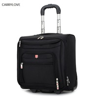 CARRYLOVE High grade Rolling Luggage Men Business Oxford Suitcase Wheels 18 inch Carry on Trolley Travel Bags laptop bag