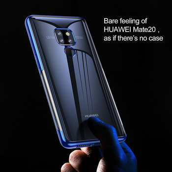 Baseus Luxury Plating TPU Case For Huawei Mate 20 Ultra Thin Soft Silicone Case For Huawei Mate 20 Pro Phone Cover Transparent 1