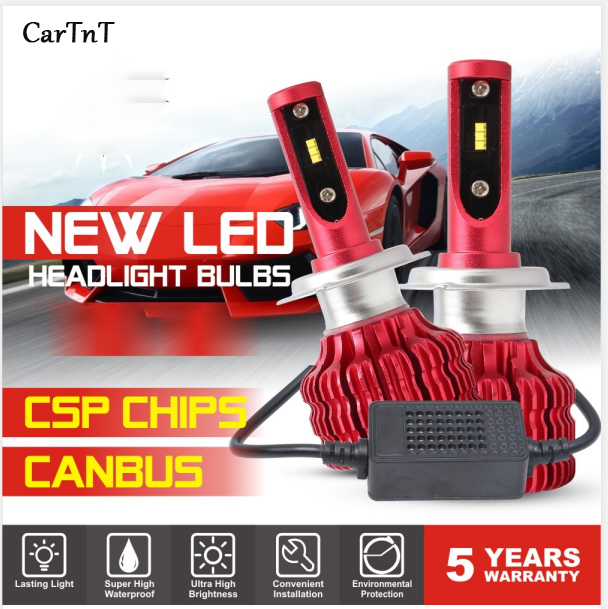 CarTnT 2Pcs LED <font><b>H7</b></font> H4 H11 H1 H3 9005 9006 HB4 HB3 5202 LED Bulb Canbus Car Headlight Hi-Lo 100W <font><b>12000LM</b></font> 6500K 24V Led Fog Lamp image