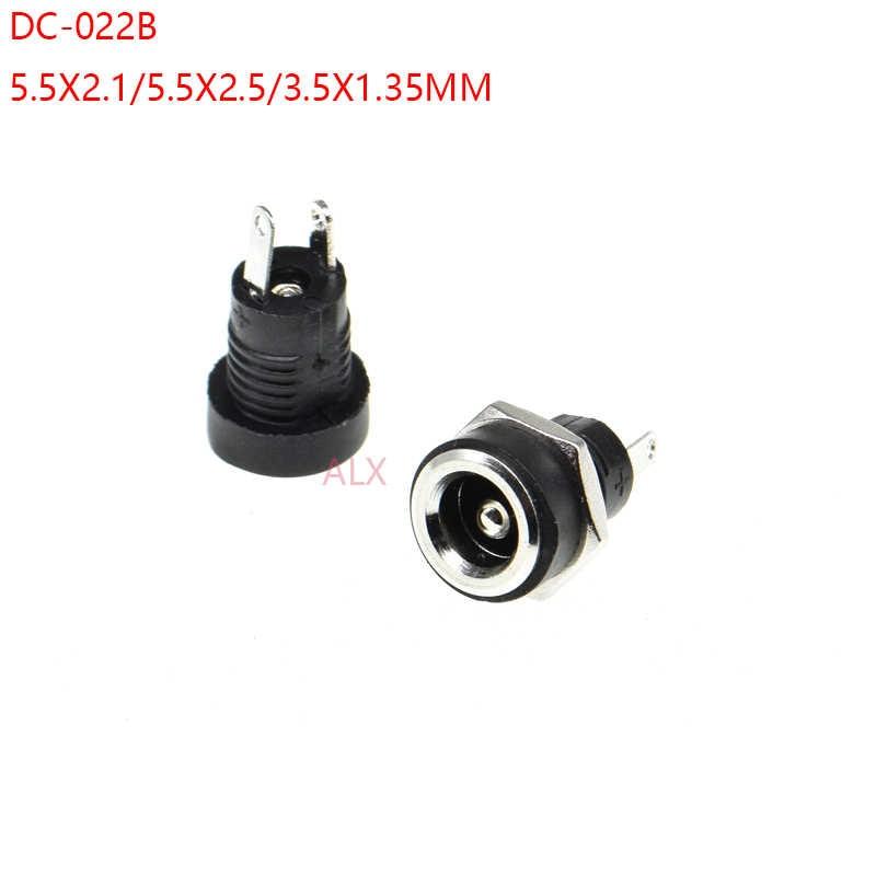 10Pcs DC Power Jack Socket Female Panel Mount Connector 3.5 mm x 1.35mm BHlu