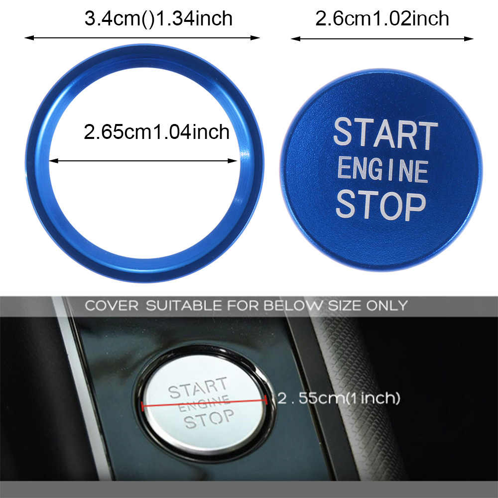 1 Xe Bắt Đầu Dừng Động Cơ Nút Công Tắc Bao Vòng Dán Decal Cho Xe Audi A6 B8 A6L Q5 8R A4 c7 B9 A7 BT Tự Động Phụ Kiện