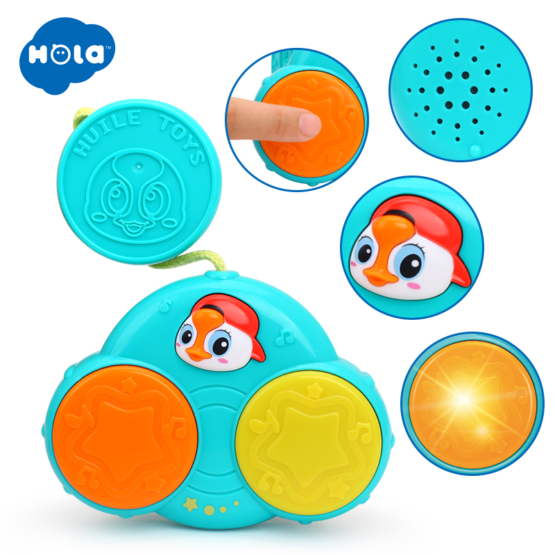 Functional Baby Birthday Gift Toddler Fun Hand Pat Drum Music Instrument Learing Eletrionics Toy  Stroller Bar Toys