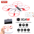 Drones com câmera hd wi-fi quadrocopter syma x14w freio modo de rastreamento fpv quadcopter dron helicóptero do rc 2.4g 6 eixo helicoptero