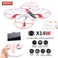 Syam X14W Drones Com Câmera HD WI-FI Quadrocopter Freio Modo de Rastreamento FPV Quadcopter Dron Helicóptero DO RC 2.4G 6 eixo Helicoptero