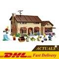 EM Estoque Lepin 16005 2575 Pcs Simpson família do Kwik-E-Mart Conjunto de Blocos de Construção Tijolos Brinquedos Educativos Clone 71006