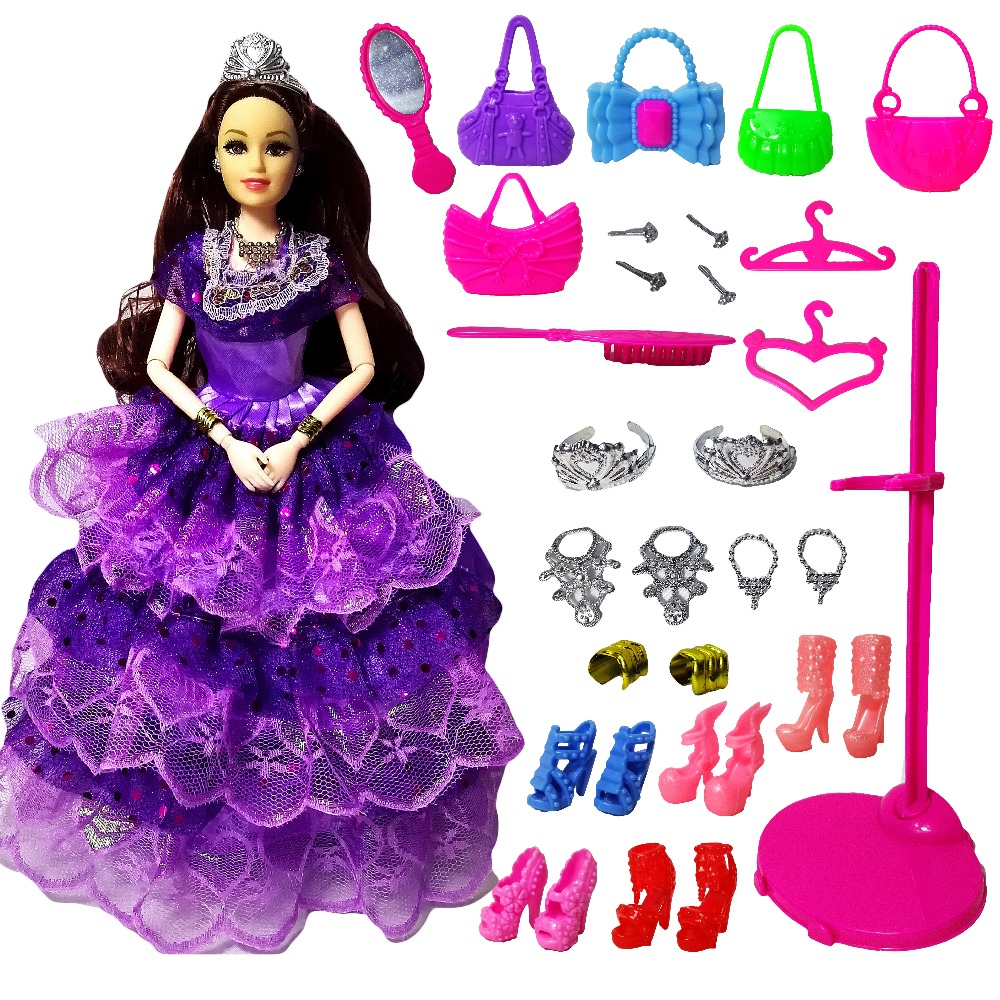 New Favorite Princess Doll Fashion Party Wedding Dress Moveable Joint Body Classic Toys Best Gift for Girls Friends Barbie dolls