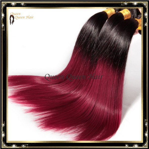 New Arrival T1b 118 Red Purple Ombre Two Tone Brazilian Straight Remy Hair Weave 100g Pack Delivery Fast Free Shipping On Aliexpress Alibaba Group