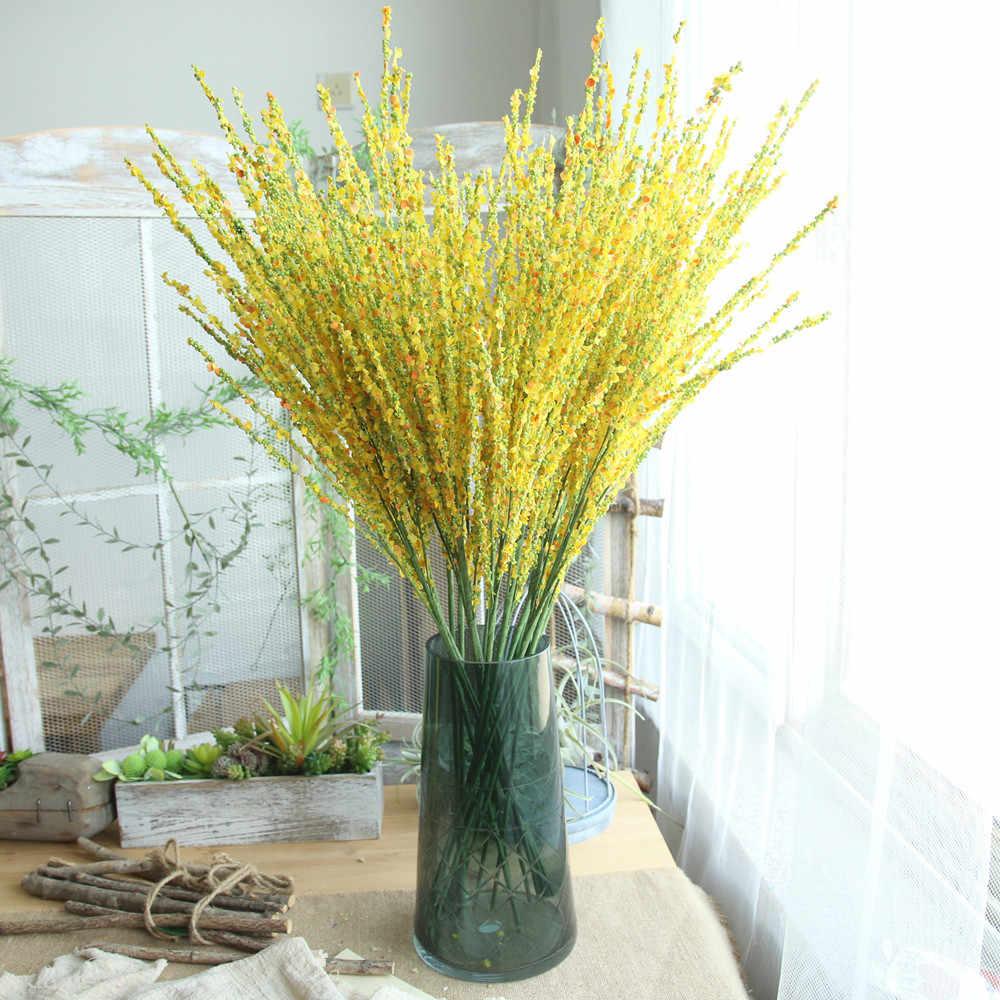 ... 1 филиал Искусственные цветы зимний жасмин home decor цветок свадебные  букеты дорога цветок стены грабли цветы 713b7420d55