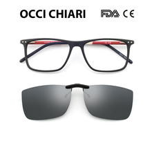 Anti-blue glass Glasses Frame Eyeglasses Frames clip Men Acetate Male Fashionable Spectacle Frames Optical Glasses Black W-COSCO