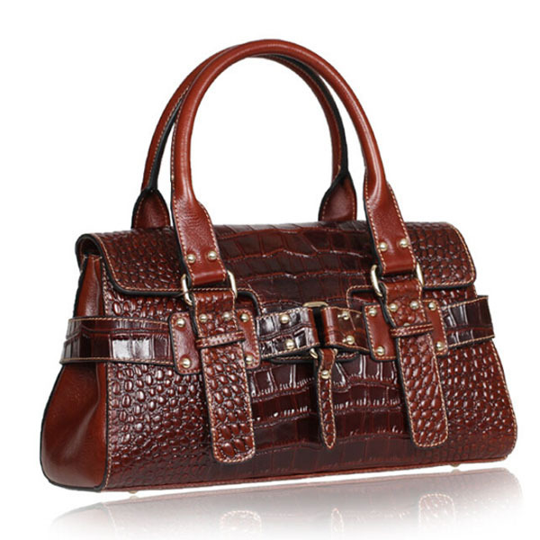 Accept private label Custom logo wholesale drop shipping Women Italian real natural Leather Alligator Genuine leather tote bags