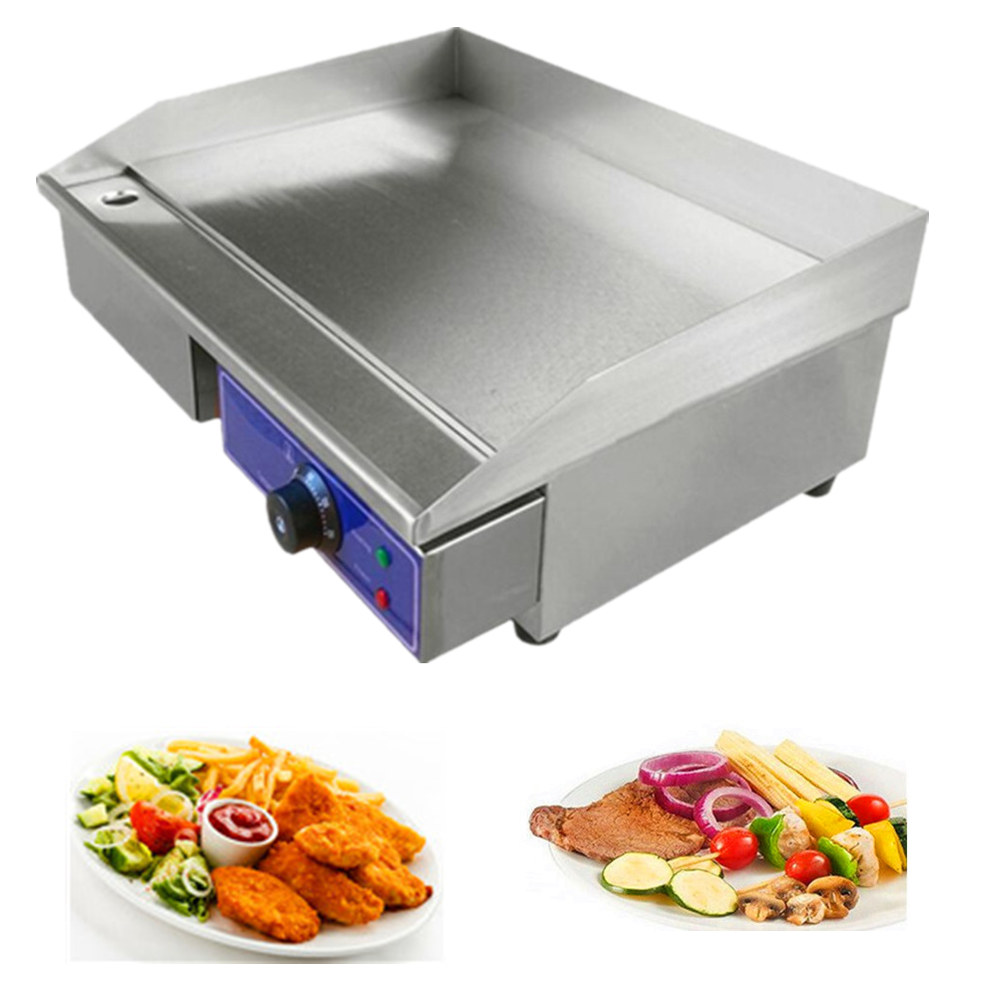 цена на Fast Ship from Germany Cheap  brand new Electric commercial stainless steel flat top pan oven grill griddle for restaurant