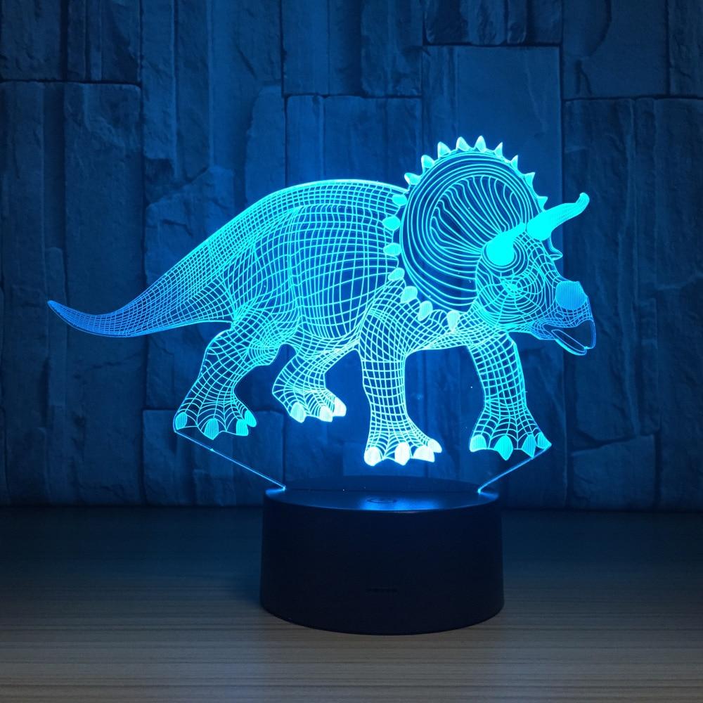 купить Herbivorous Dinosaurs 3D LED Lamp Night Lights Novelty Illusion Night Lamp LED with USB Cable Birthday Christmas Party Gift по цене 883.29 рублей