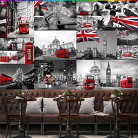 Beibehang مخصصة 3d خلفيات النمط الأوروبي رأي الشارع النمط البريطاني برج جسر لندن حافلة الهاتف بوث خلفية خلفيات