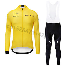 цена на 2019 New Strava cycling jersey pro team Spring Autumn long sleeve Set Quick dry Racing Bicycle Clothing Maillot Ropa Ciclismo 01
