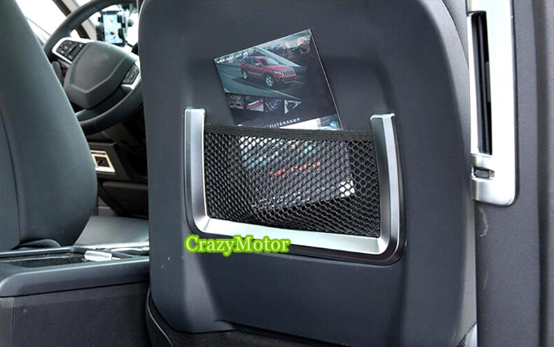 2pcs/set Car Seat Back Storage Bag Cover Trim 2pcs For Land Rover Range Rover Evoque 2011-2016 silver black side fender sticker for land rover range rover evoque 2011 2016 abs chrome car accessories