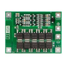 3S 40A 18650 Li-Ion Lithium Battery Charger Protection Board Pcb Bms For Drill Motor 11.1V 12.6V Lipo Cell Module 3s 10a 12v lithium battery charger protection board module for 3pcs 18650 li ion battery cell charging bms 11 1v 12 6v