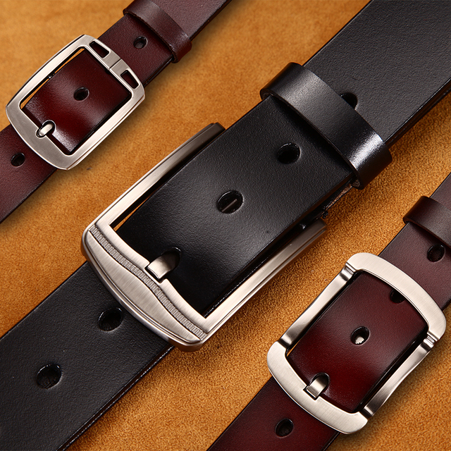 [LFMB] male genuine leather strap belt