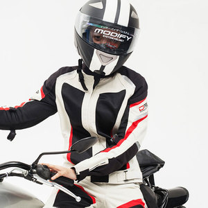 Image 5 - DUHAN النساء دراجة نارية سترة دراجة نارية السراويل الصيف تنفس دراجة نارية دعوى الأبيض سترة سباق موتو ملابس واقية