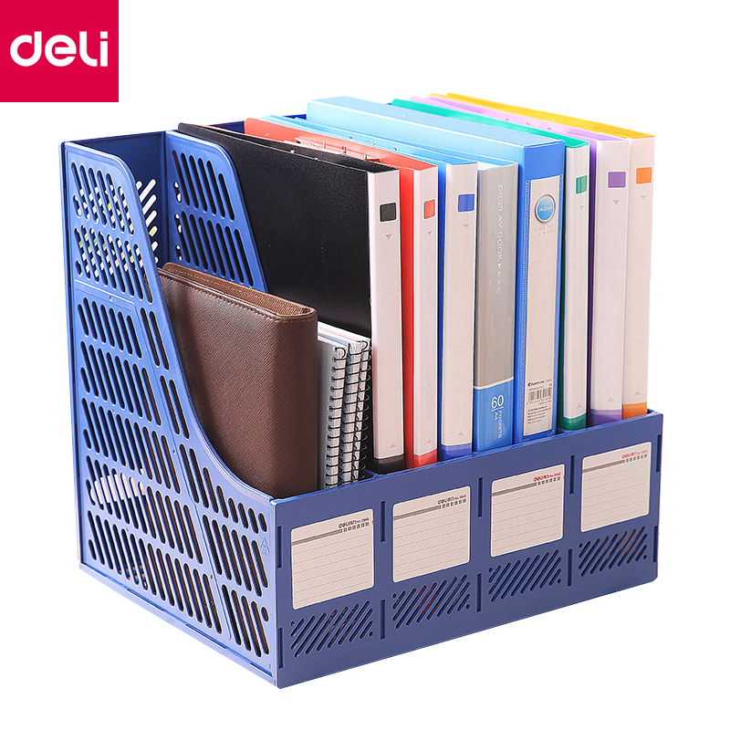 office paper organizer There's no need to use several different organizers when an all-in-one desk organizer is in place, since it's made to house a diverse range of office supplies, from small paper clips to large file folders.