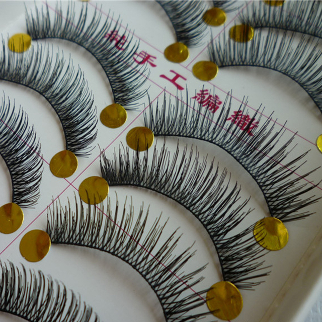 Handmade Natural False Eyelashes (10 Pairs/Box)