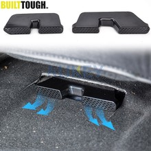 Under Seat Floor Heater Duct Grille Air Vent Outlet Cover Stickers For 2014 - 2018 Honda City Grace Ballade 2015 2016 2017(China)