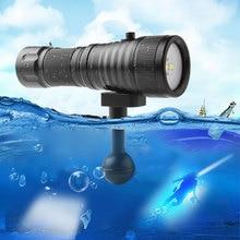 Водонепроницаемый светодиодный фонарик для дайвинга Фотографии Видео 1600LM 120 градусов Угол