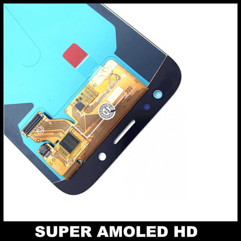 كامل محول الأرقام شاشات Lcd استبدال لسامسونج غالاكسي J7 برو 2017 J730 J730F شاشة هاتف LCD اللمس الشاشة مع سطوع تعديل